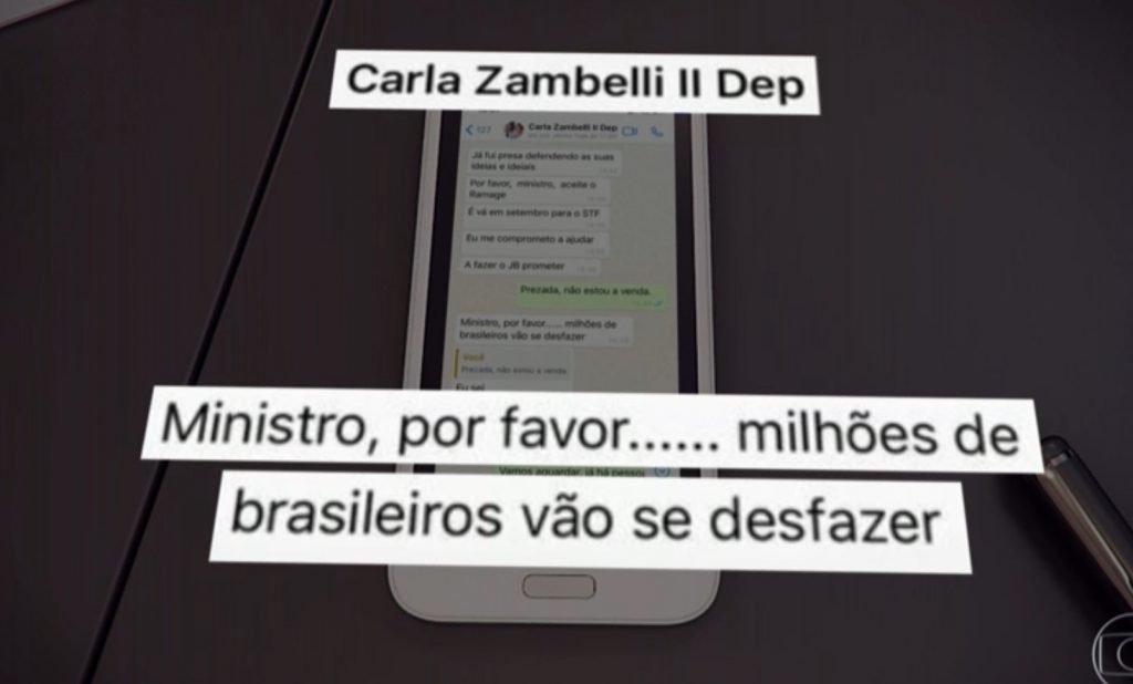 Moro mostra mensagem de Bolsonaro pressionando por troca na PF