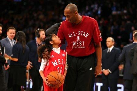 Gianna Bryant ao lado do pai, Kobe Bryant