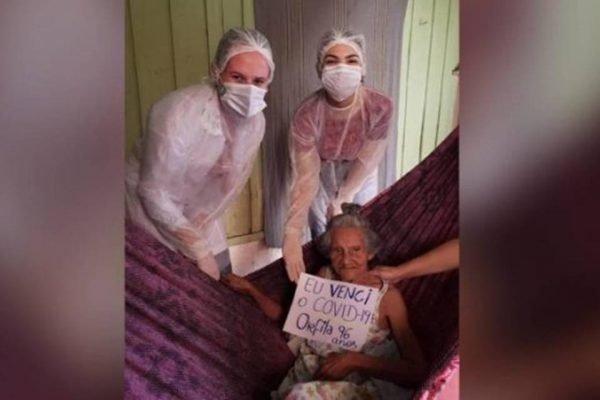 Idosa curada do coronavírus no Amazonas
