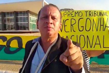 Renan da Silva Sena em manifestação pró-bolsonaro