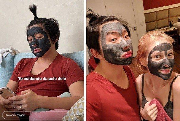 pyong lee e sammy máscara de argila