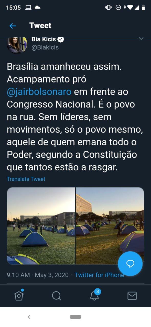 Acampamento dos 300 do Brasil na Esplanada
