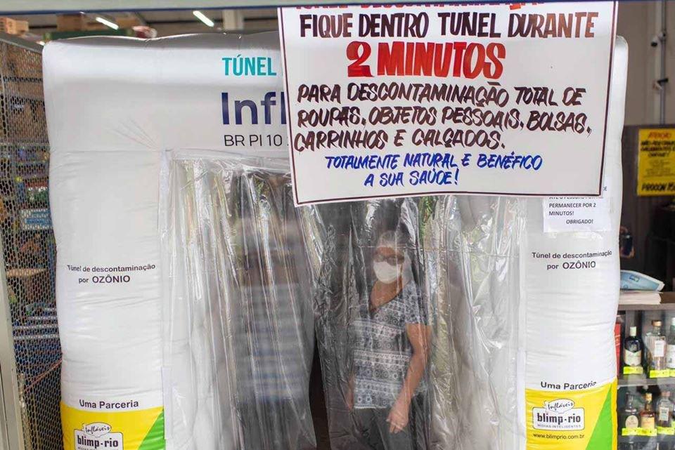 Túnel de ozônio em mercado do DF