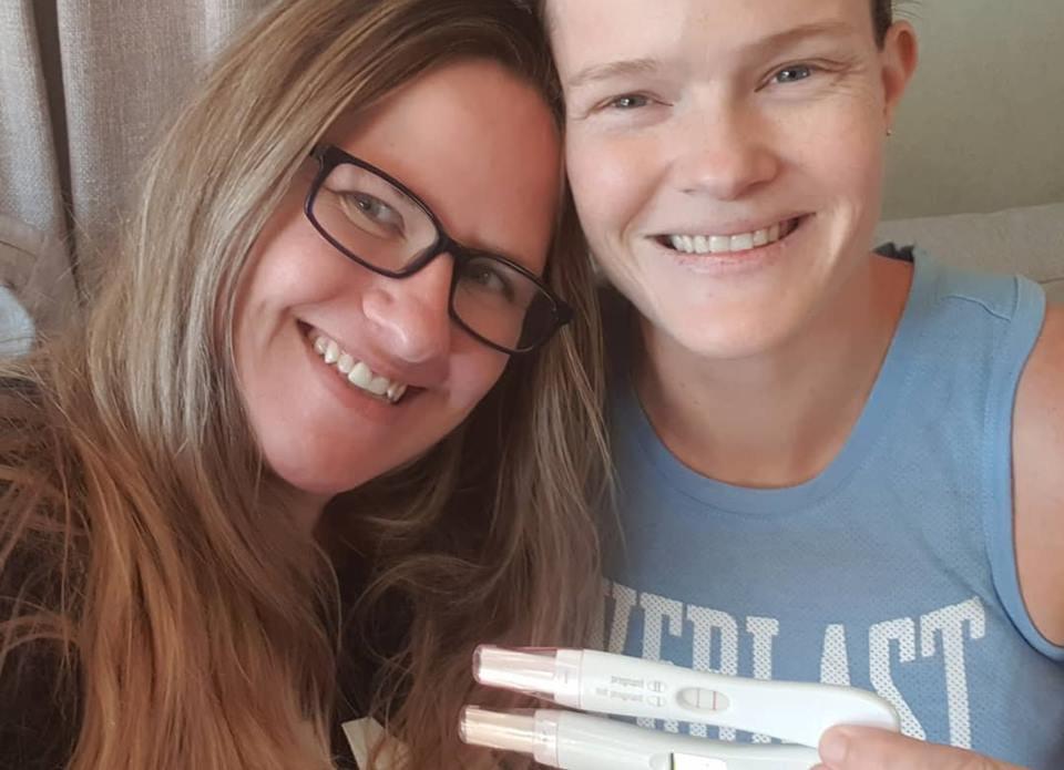 Kat Buchanan e Taryn Cumming, casal lésbico