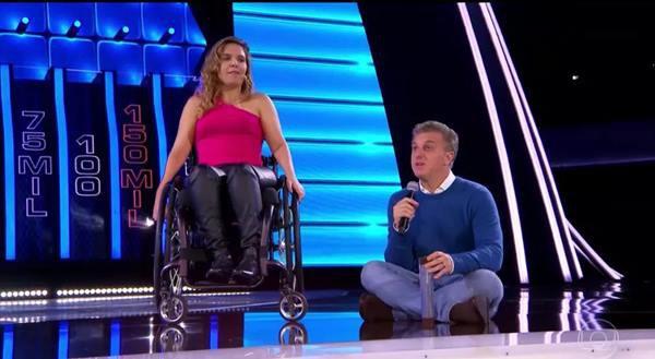 Carla Maia do Street Cadeirante no Caldeirão do Huck
