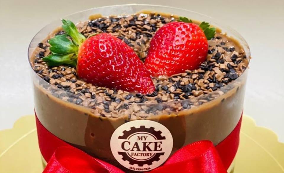 bolo lava cake da my cake factory