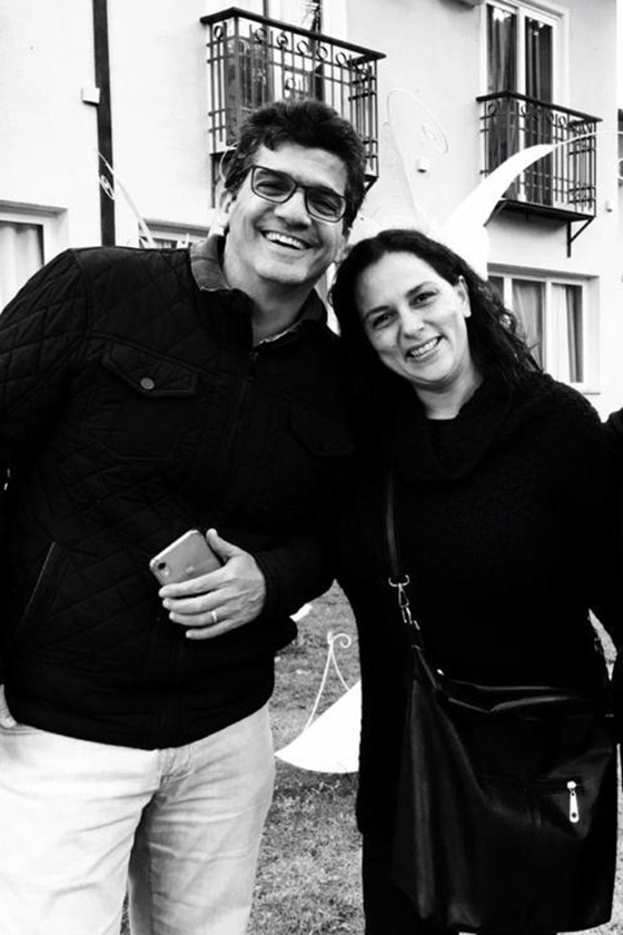 Júlio Uchoa e Irina Neves nos bastidores de Ricos de Amor