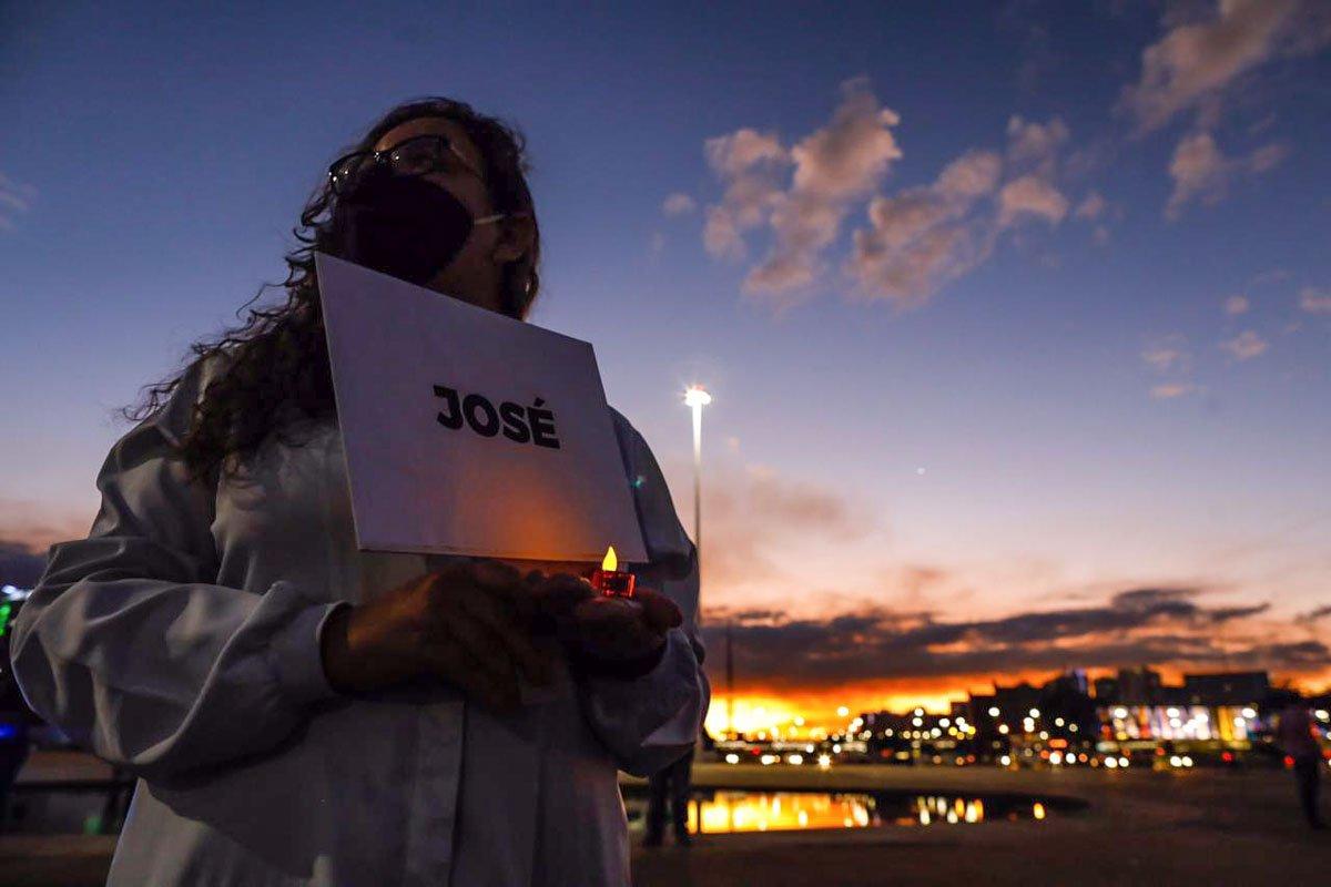 Protesto enfermeiros em Brasília