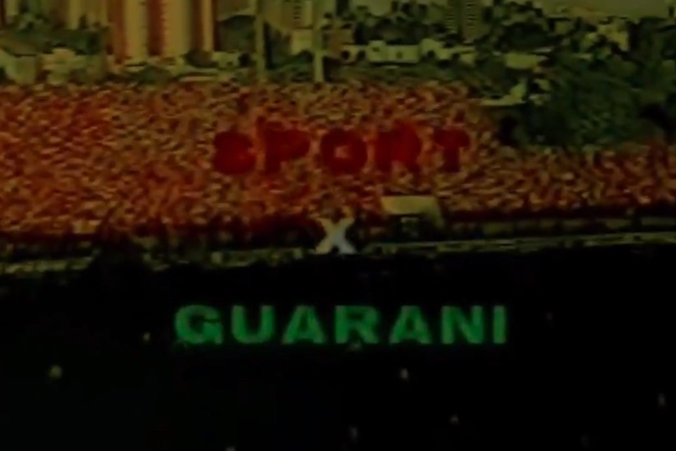 Jogo entre Sport e Guarani em 1987
