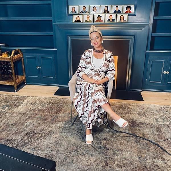 Katy Perry durante gravação do American Idol em casa