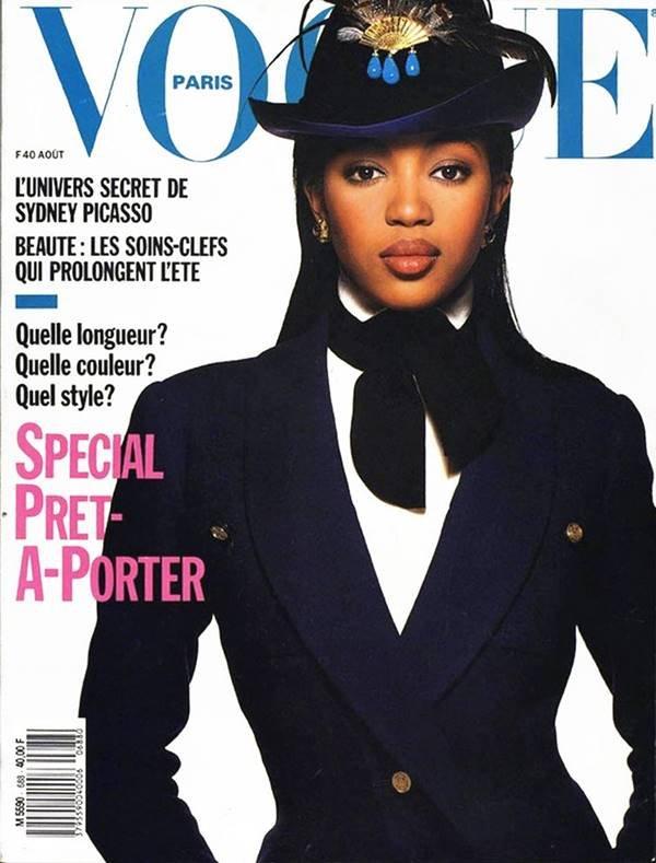 Naomi Campbell na capa da Vogue Paris