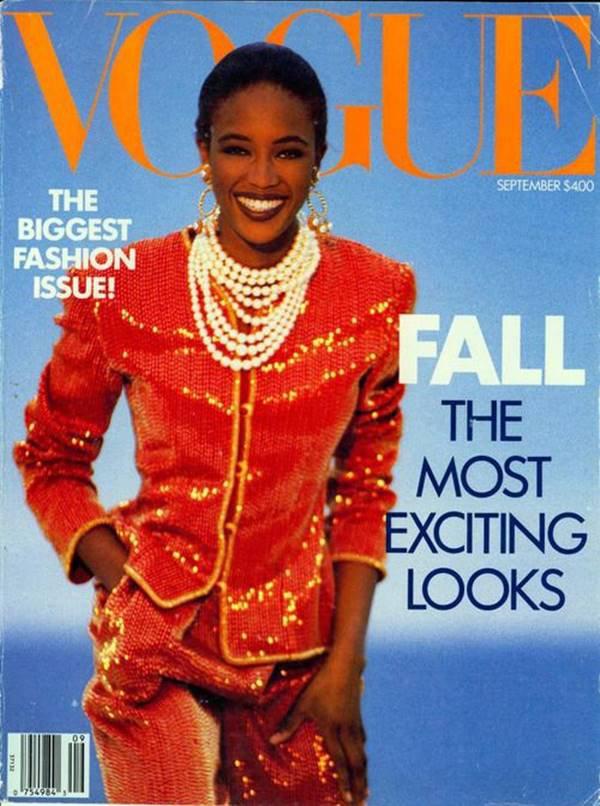 Naomi Campbell na capa da Vogue americana