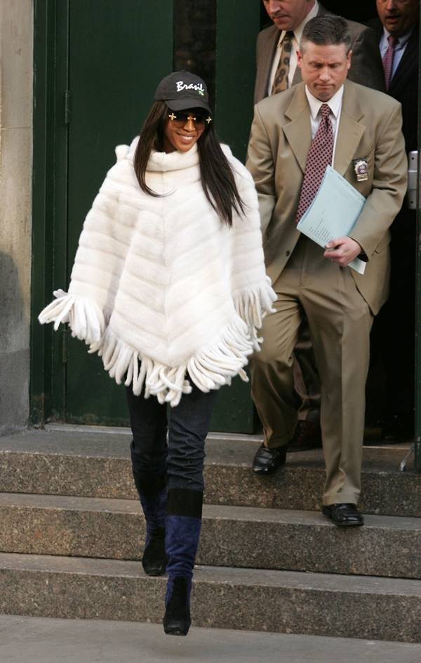 Naomi Campbell após ser presa em 2006