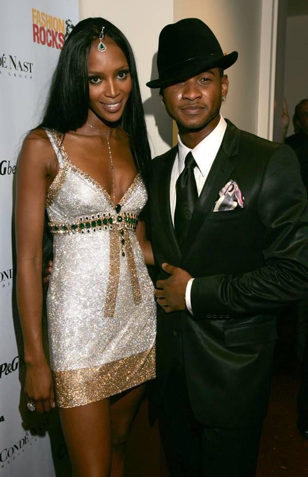 Naomi Campbell e Usher em 2004