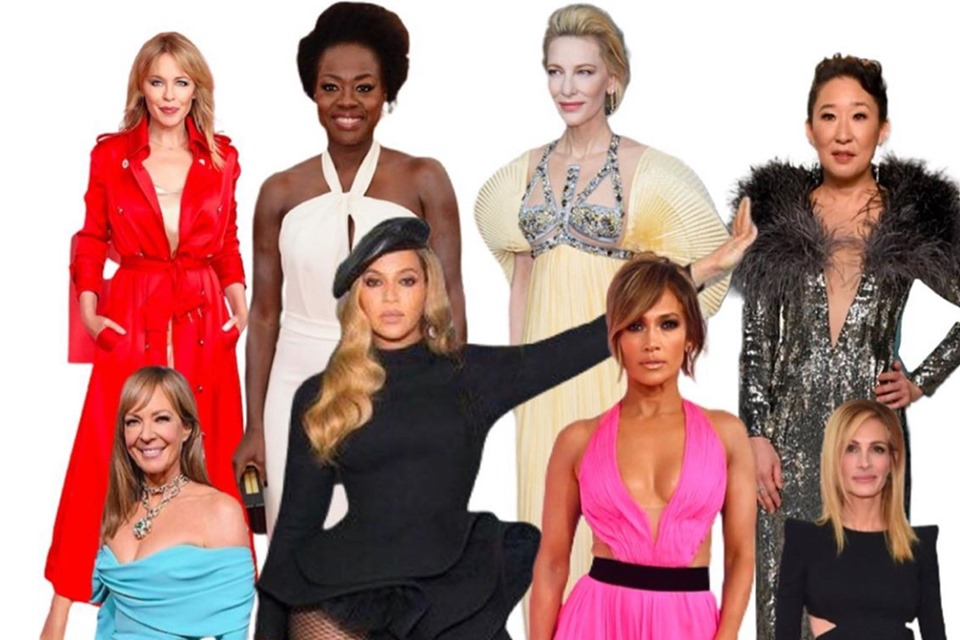 montagem com celebridades para leilão beneficente