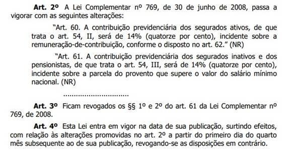 Projeto de lei que o GDF enviou à CLDF com desconto previdenciário