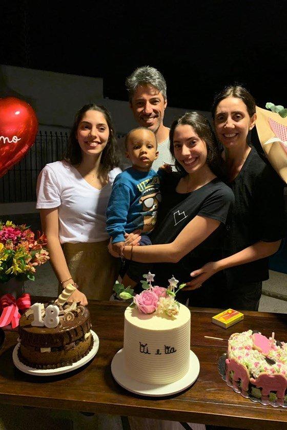 Valentina Foresti, Rogerio Roseo, Vittoria Foresti, Matheus e Renata Foresti