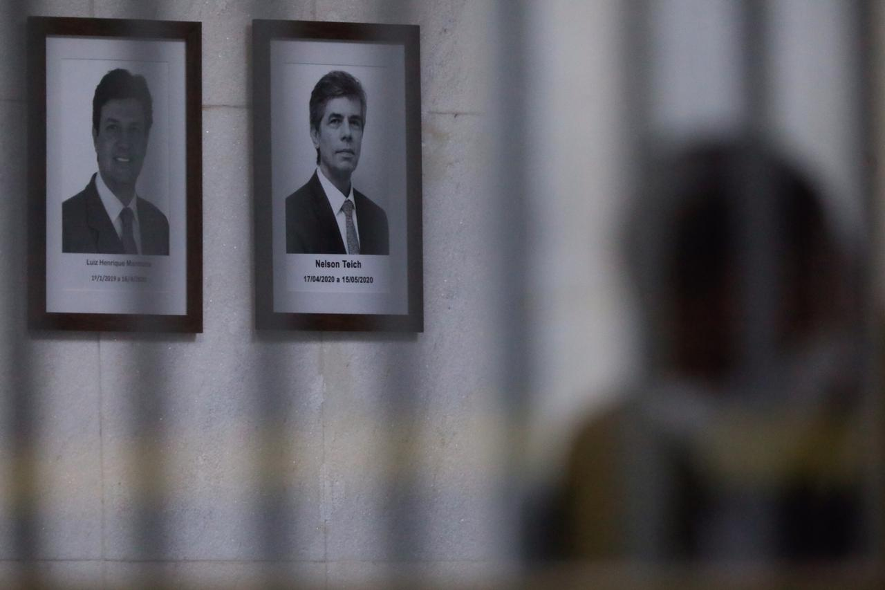 Ex-ministros da Saúde Luiz Henrique Mandetta e Nelson Teich