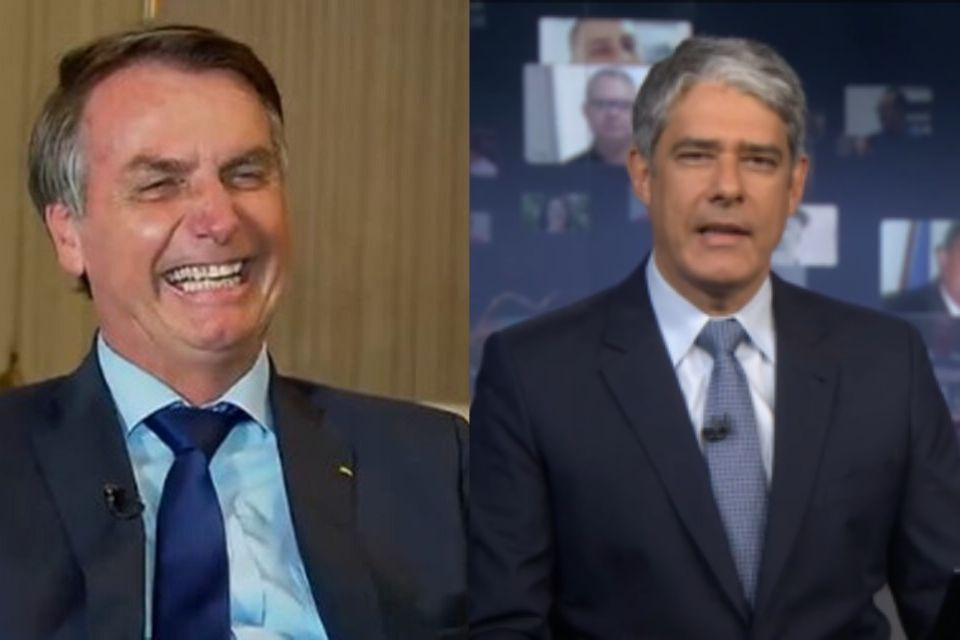 Bolsonaro e William Bonner