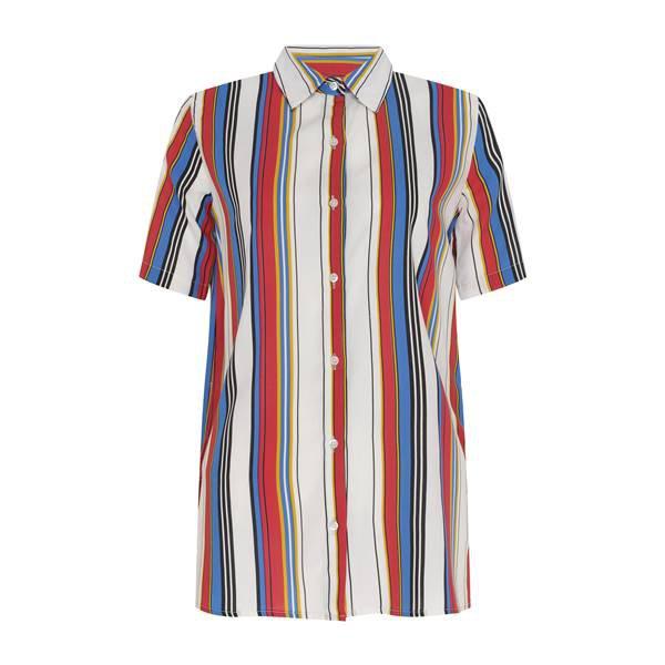 Camisa listrada com modelagem oversized