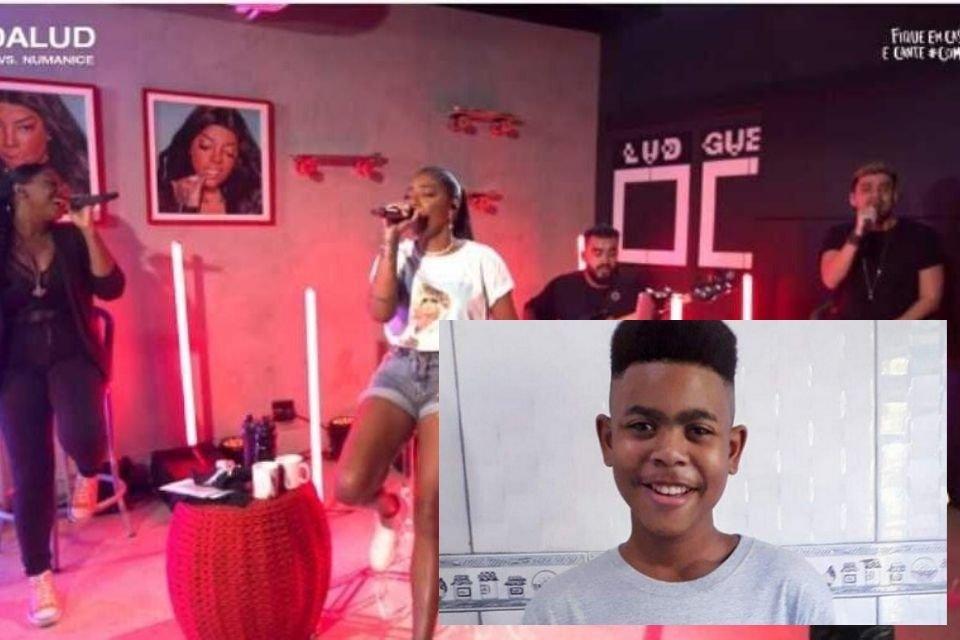 Ludmilla faz homenagem a João Pedro em live