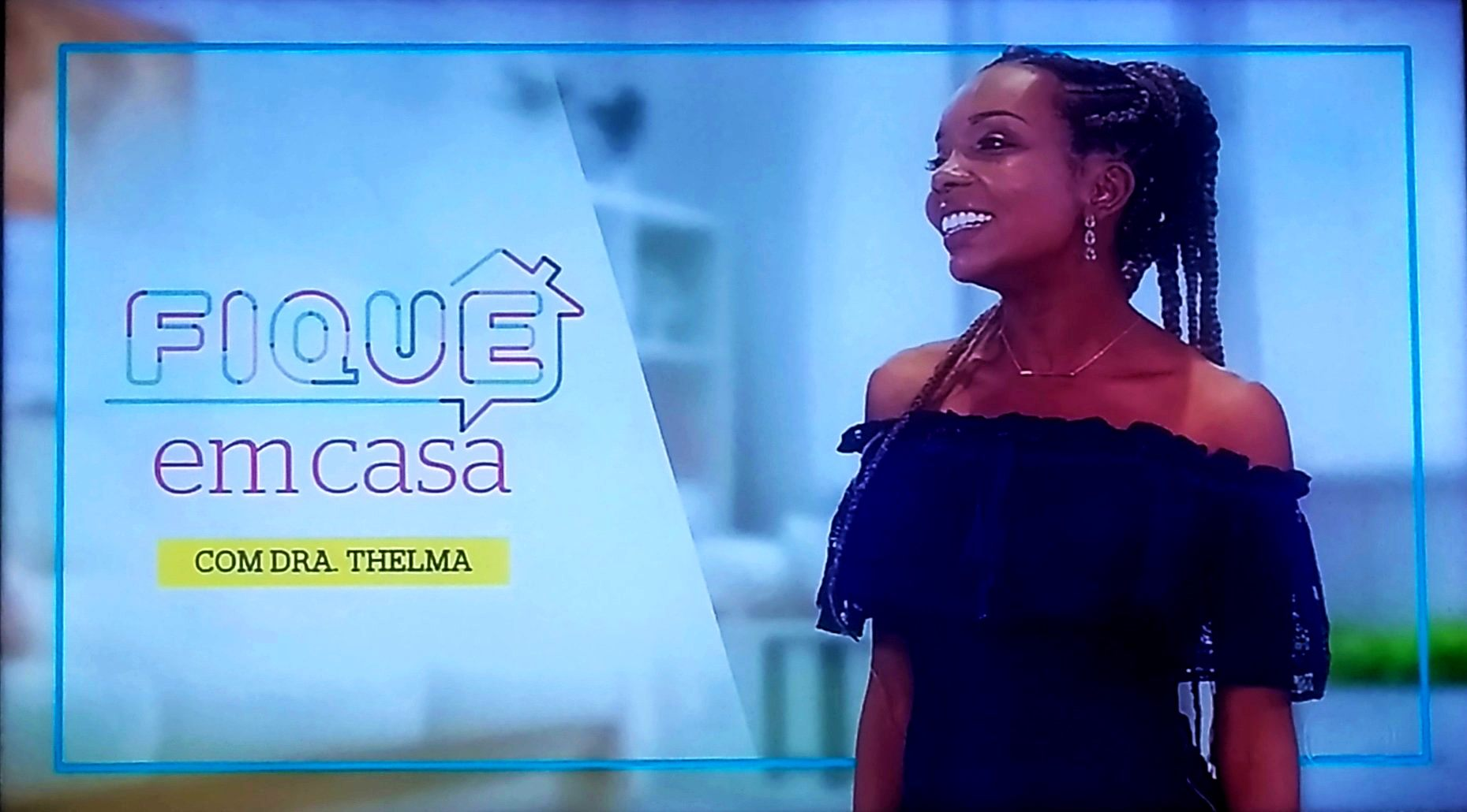 Thelma Assis apresenta quadro no prograa É de Casa