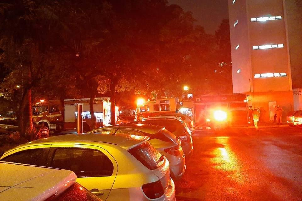 Apartamento do Bloco G da SQS 205 pega fogo