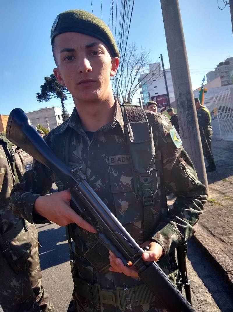 Matheus Fontana, soldado do Exército
