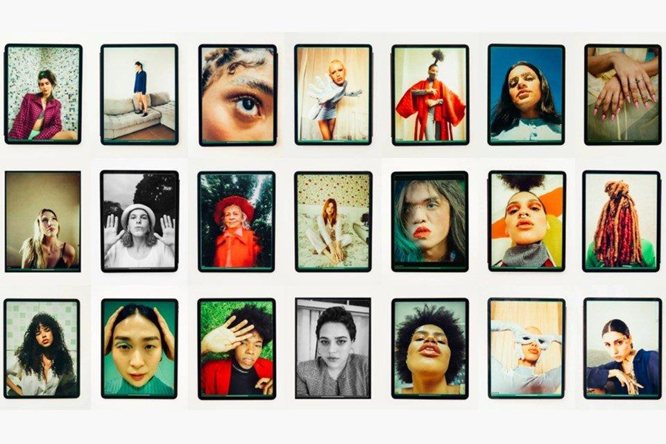 montagem de fotos de editorial da Elle Brasil