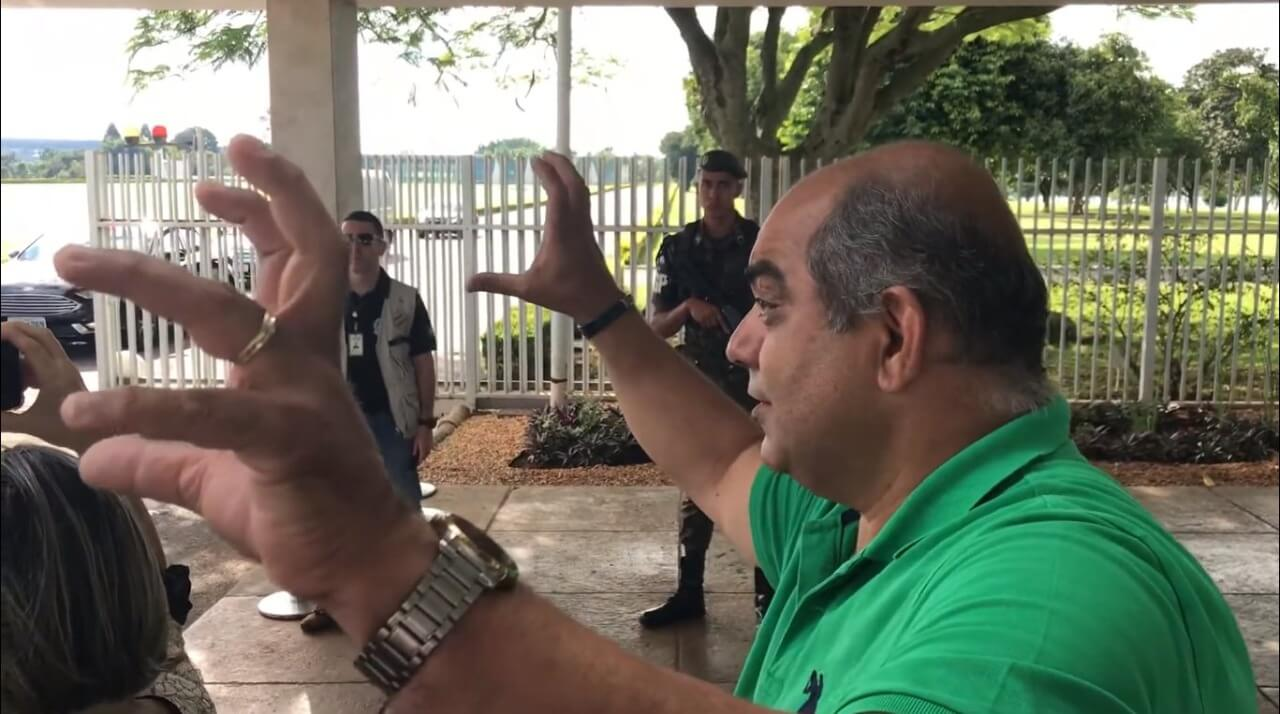 comandante Wilston Lima, organizador de atos pró-Bolsonaro