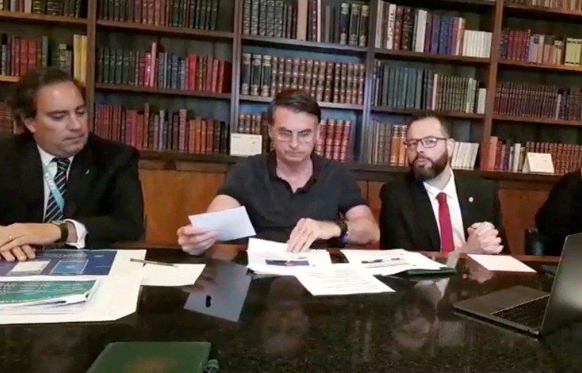 Pedro Guimarães, Jair Bolsonaro e Pedro Guimarães