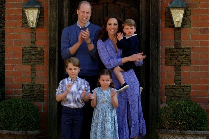 Príncipe William, Kate Middleton, George, Charlotte e Louis