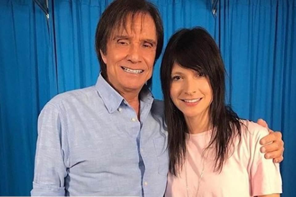 Roberto Carlos e Tamara Angel