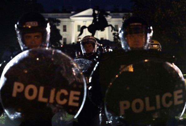 Protesto junto à Casa Branca