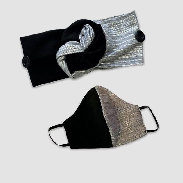 Conjunto de faixa de cabelo e máscara do projeto Banding Together