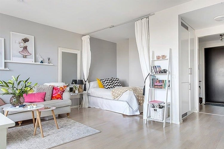 Apartamento pequeno/Quitinete decorada