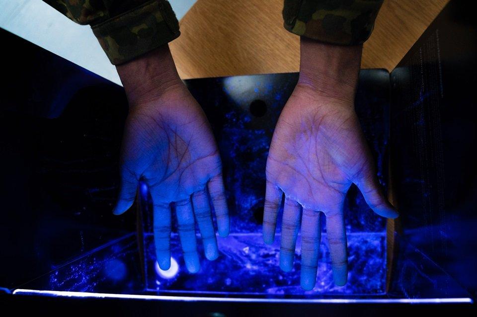 Raio UV para desinfectar