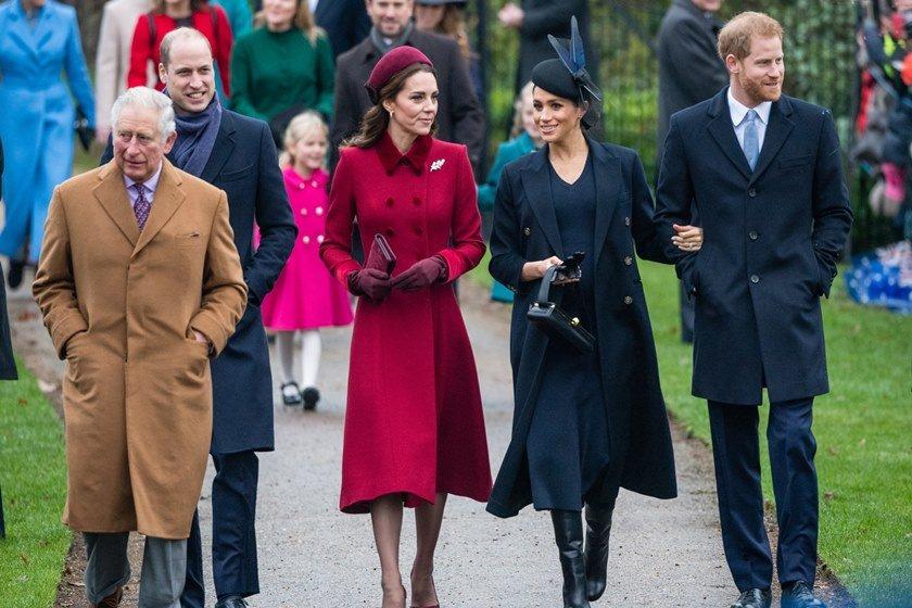 Charles, William, Kate Middleton, Meghan Markle e Harry