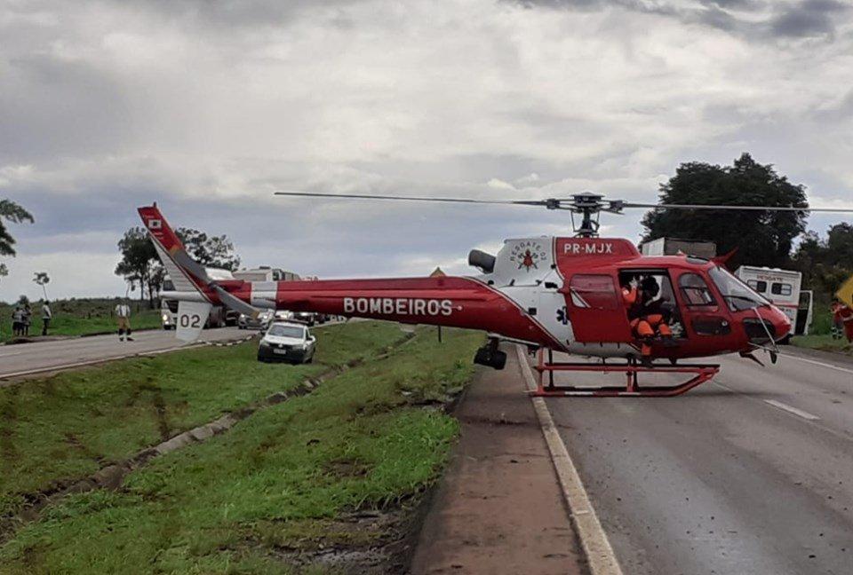 Helicóptero do Corpo de Bombeiros