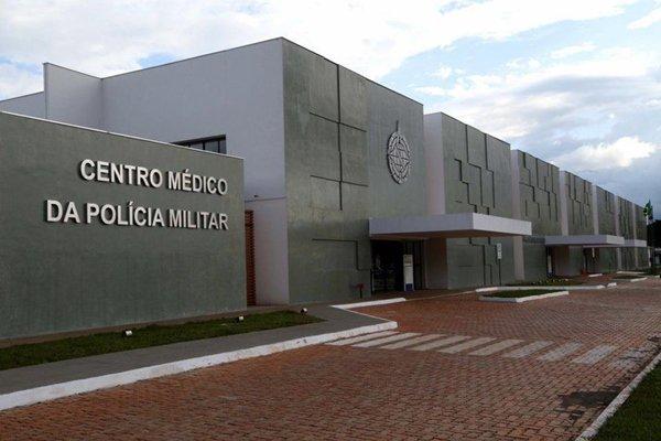 Fachada do centro médico da PMDF