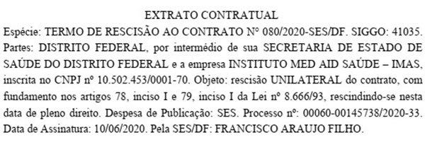 Extrato DODF 10/06/2020