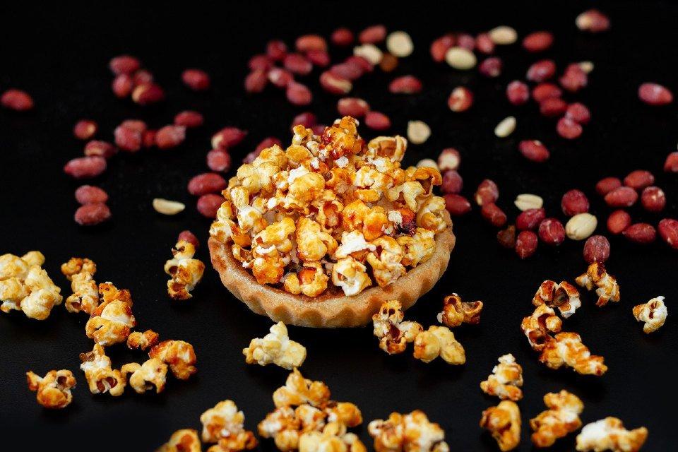 Tartelette de amendoim com pipoca, La Boulangerie