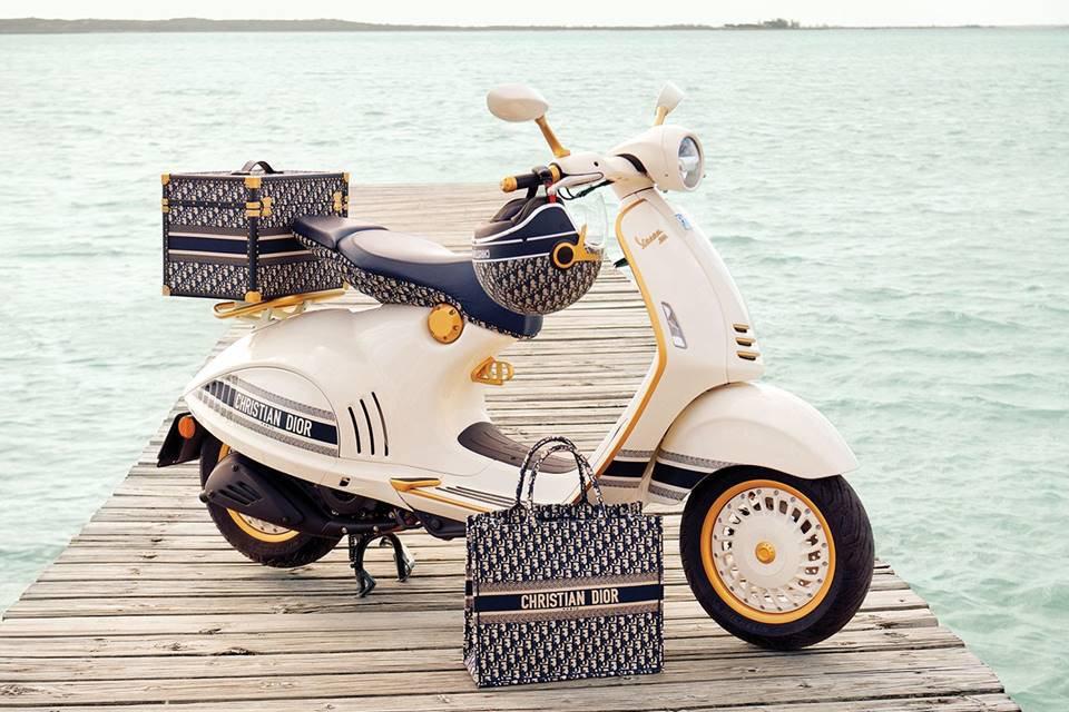 Scooter reinterpretado pela Dior para a Vespa