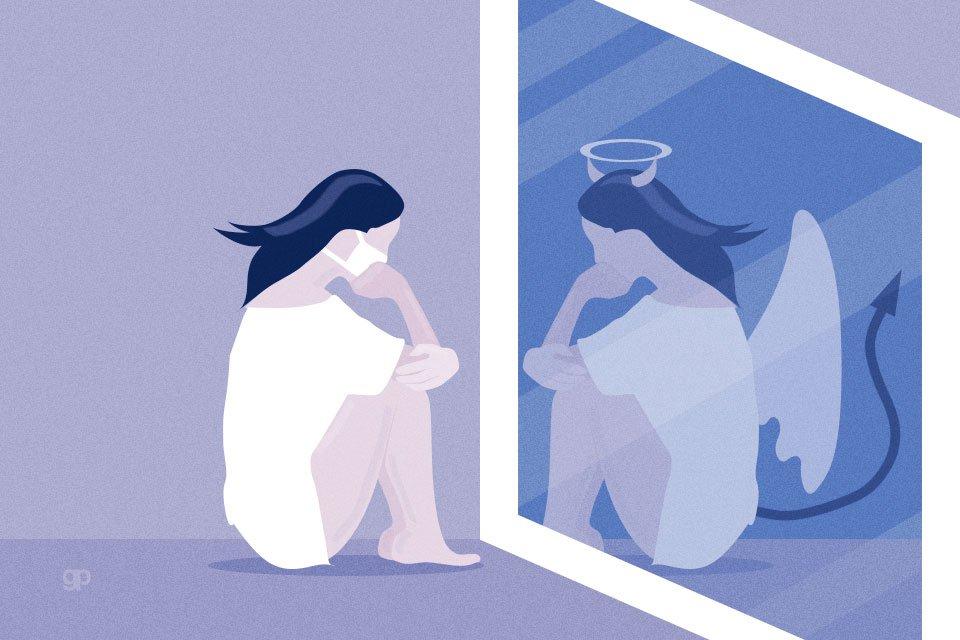 ilustração de espelho