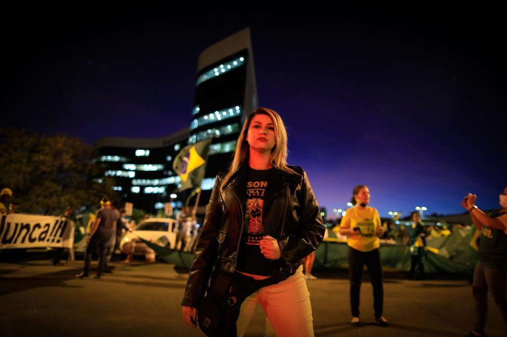 Sara Winter, líder do movimento 300 no Brasil