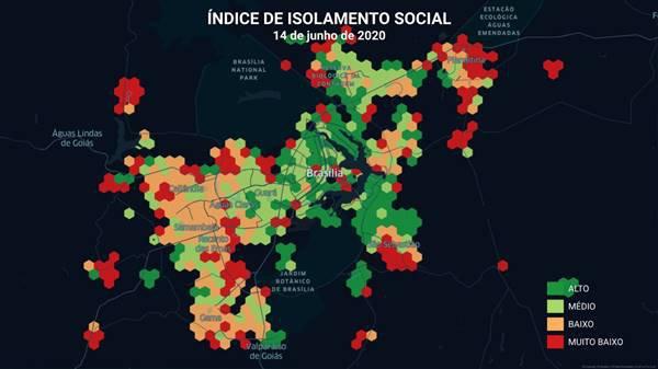 Mapa de aglomerações