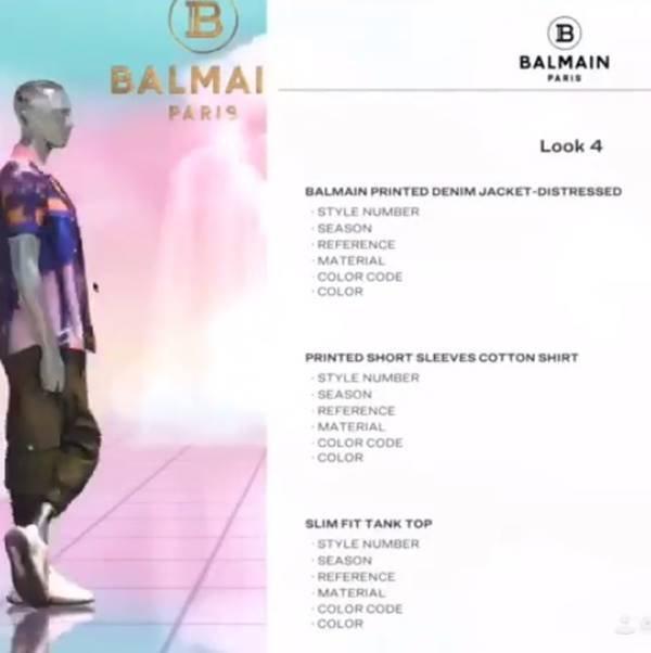 Manequins virtuais com peças da nova coleção cruise da Balmain