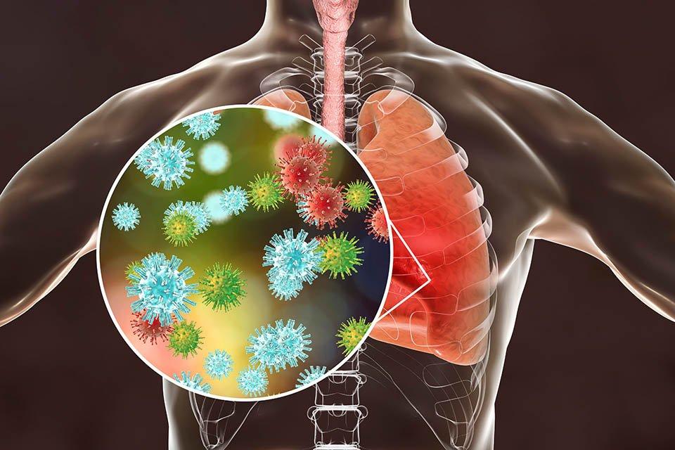 Detalhe de ataque ao pulmão