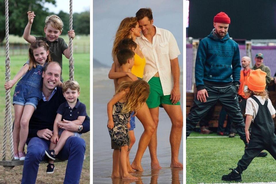 Príncipe William, Tom Brady e Justin Timbarlake