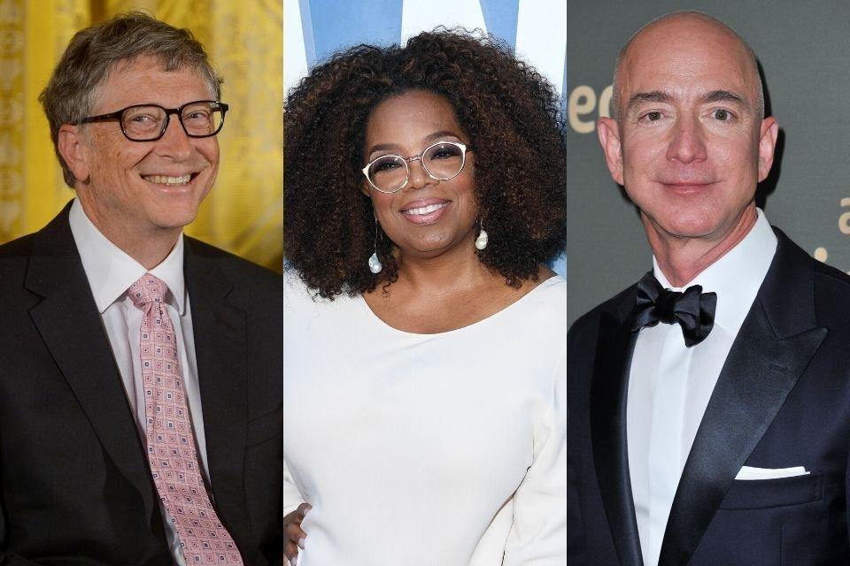 Bill Gates, Oprah Winfrey e Jeff Bezos